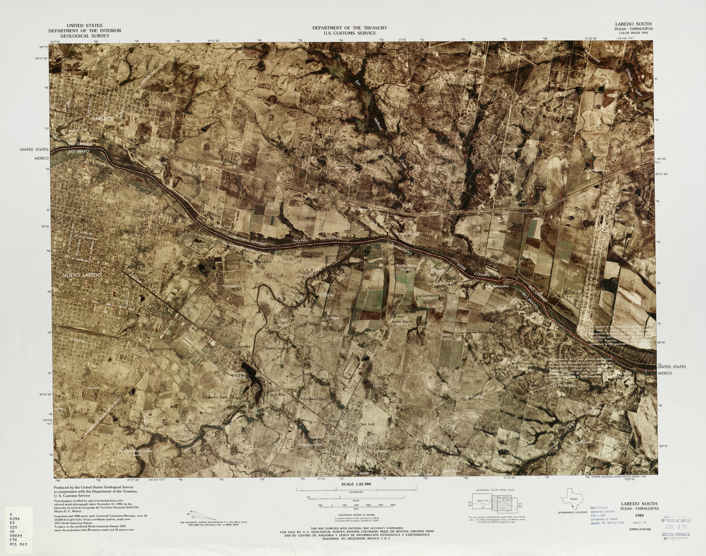 Mapa Fronterizo de México-Estados Unidos, Laredo Sur 1983