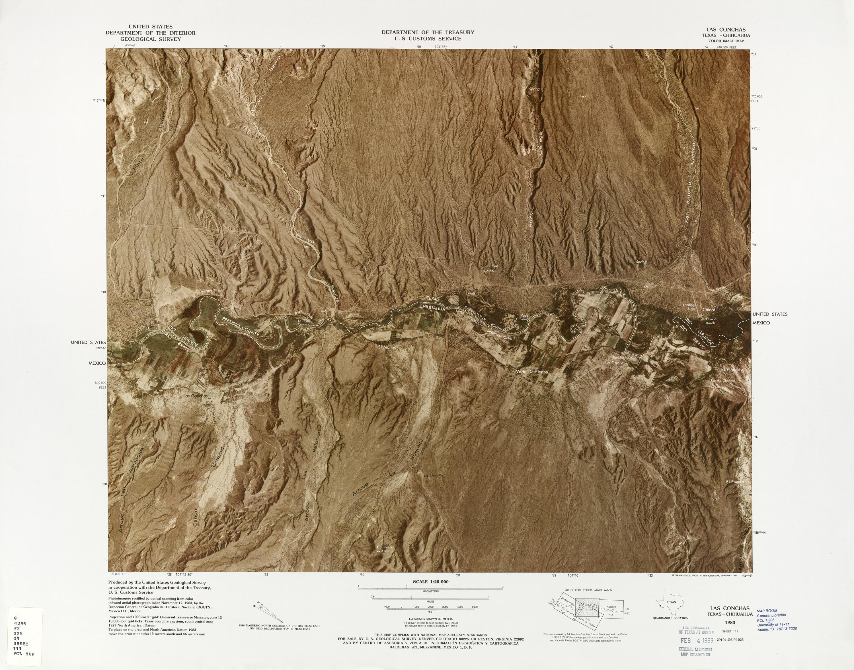 Mapa Fronterizo de México-Estados Unidos, Las Conchas 1983