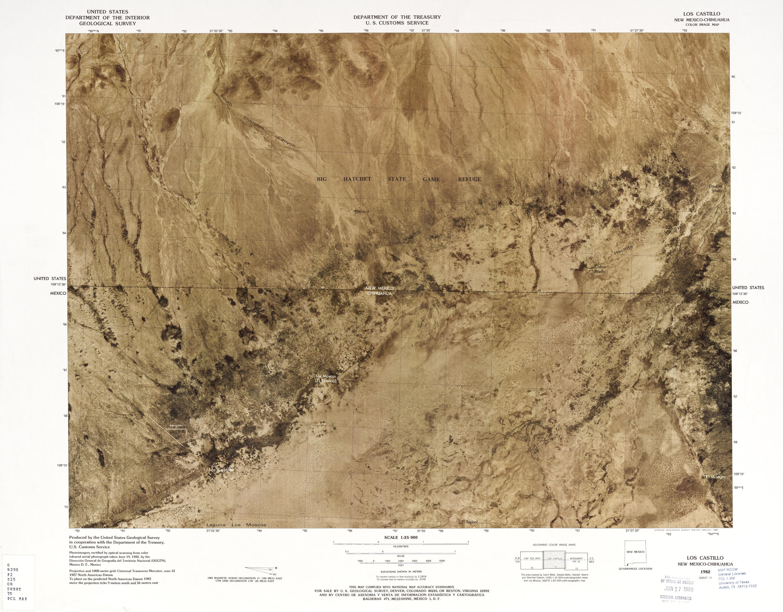 Mapa Fronterizo de México-Estados Unidos, Los Castillo 1982