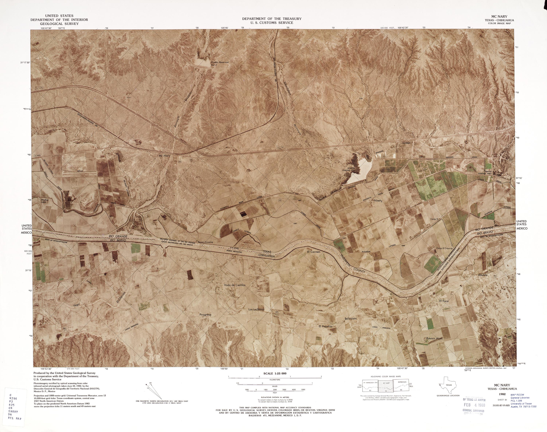 Mapa Fronterizo de México-Estados Unidos, Mc Nary 1982
