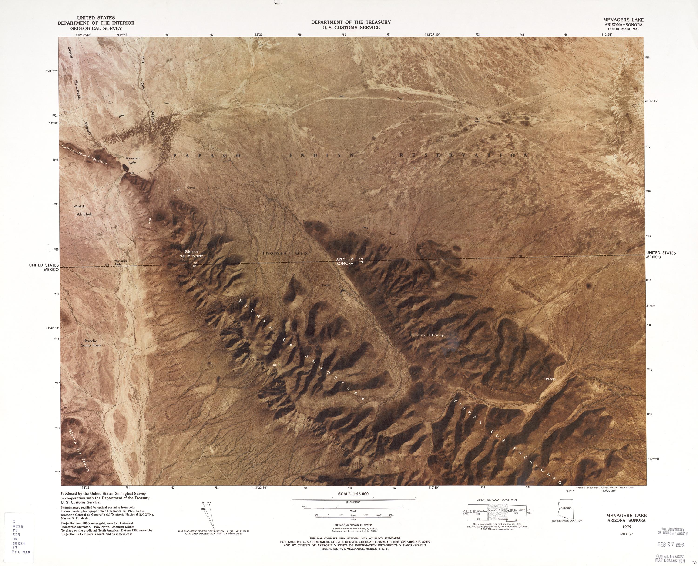 Mapa Fronterizo de México-Estados Unidos, Menagers Lake 1979