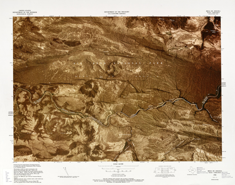 Mapa Fronterizo de México-Estados Unidos, Mesa De Anguila 1982