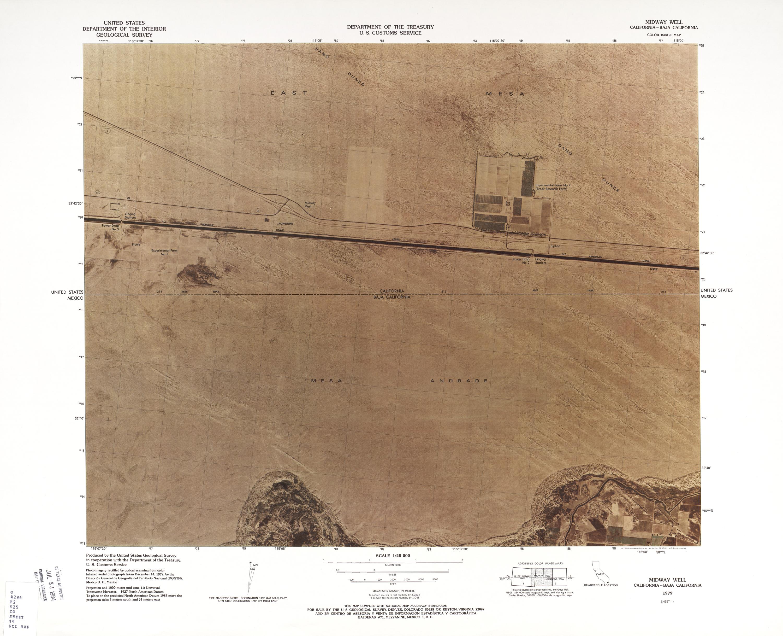 Mapa Fronterizo de México-Estados Unidos, Midway Well 1979