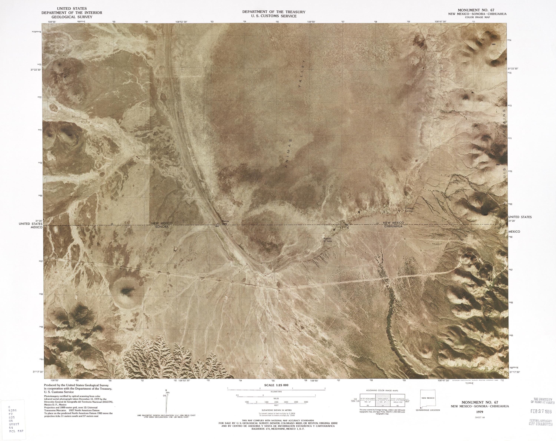 Mapa Fronterizo de México-Estados Unidos, Monumento No 67 1979