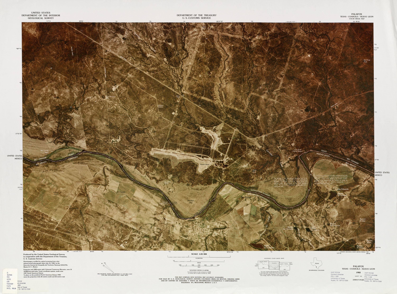 Mapa Fronterizo de México-Estados Unidos, Palafox 1982