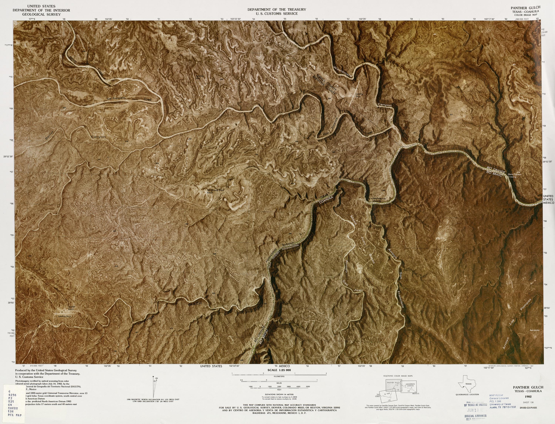 Mapa Fronterizo de México-Estados Unidos, Panther Gulch 1982