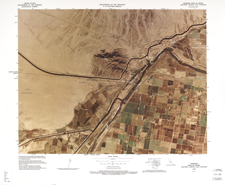 Mapa Fronterizo de México-Estados Unidos, Puerto de Entrada Andrade 1979
