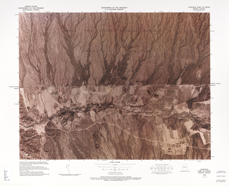 Mapa Fronterizo de México-Estados Unidos, Puerto de Entrada Lukeville 1979