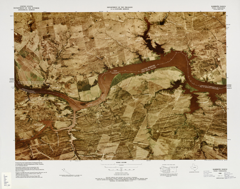 Mapa Fronterizo de México-Estados Unidos, Ramireno Ranch 1982
