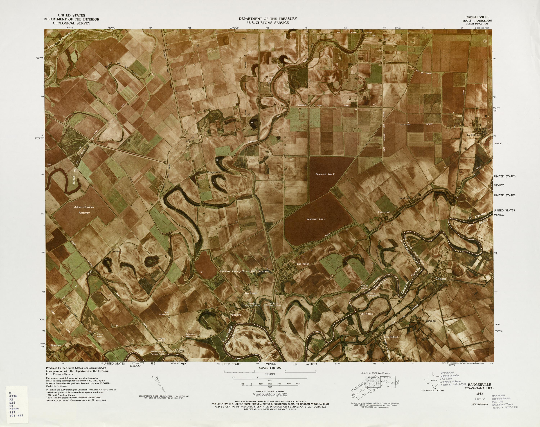 Mapa Fronterizo de México-Estados Unidos, Rangerville 1983