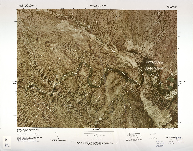 Mapa Fronterizo de México-Estados Unidos, Red Light Draw 1982