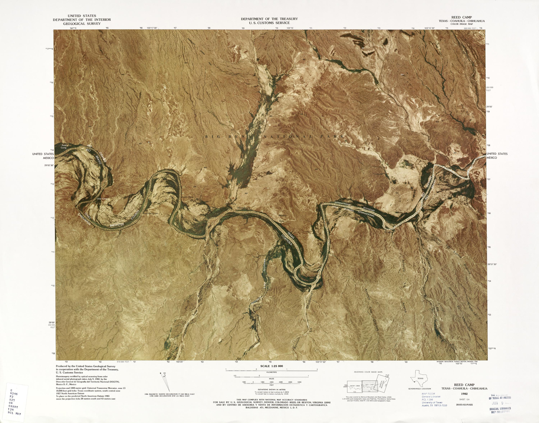 Mapa Fronterizo de México-Estados Unidos, Reed Camp 1982