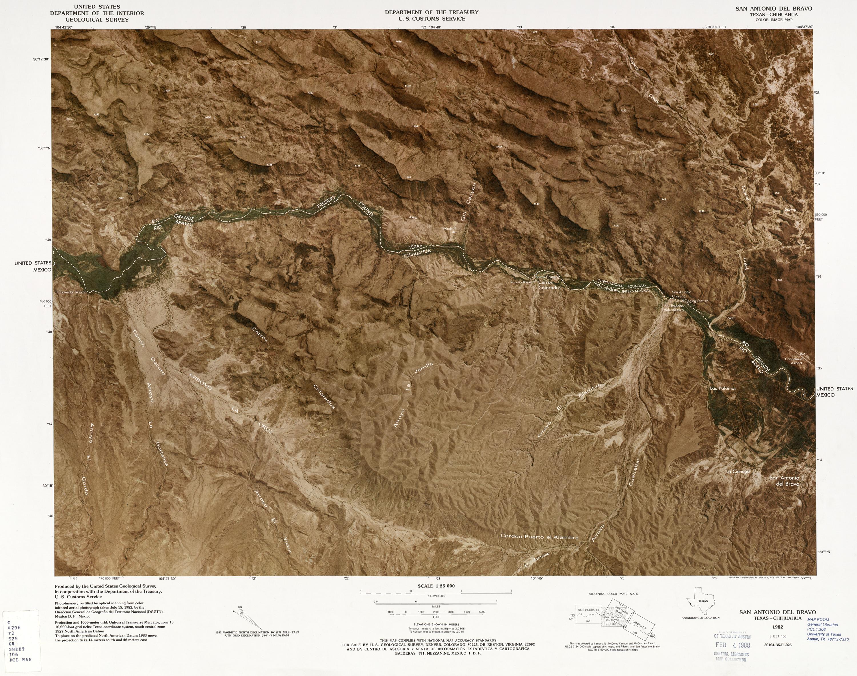 Mapa Fronterizo de México-Estados Unidos, San Antonio Del Bravo 1982