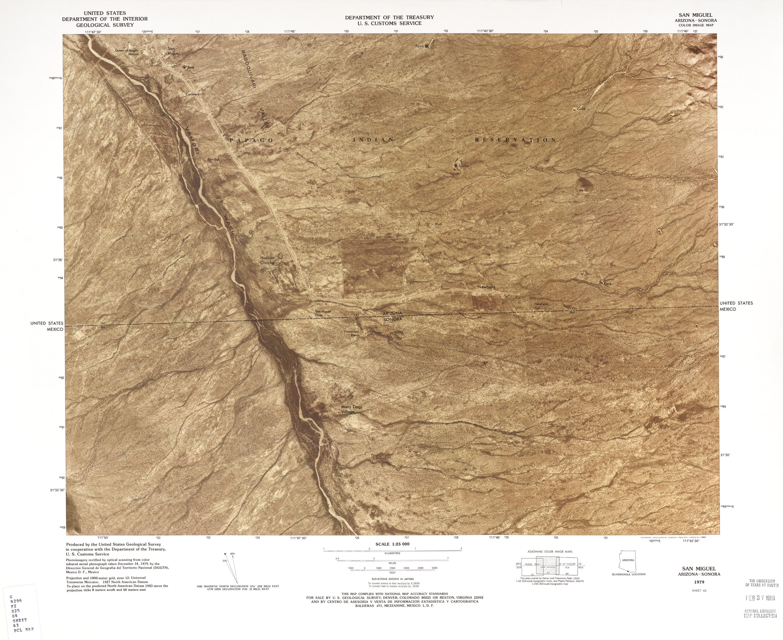 Mapa Fronterizo de México-Estados Unidos, San Miguel 1979