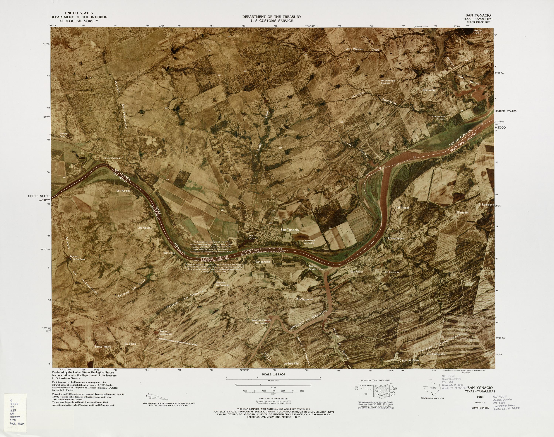 Mapa Fronterizo de México-Estados Unidos, San Ygnacio 1982