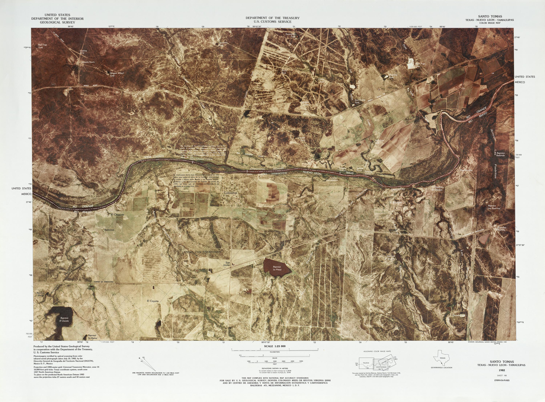 Mapa Fronterizo de México-Estados Unidos, Santo Tomas 1982