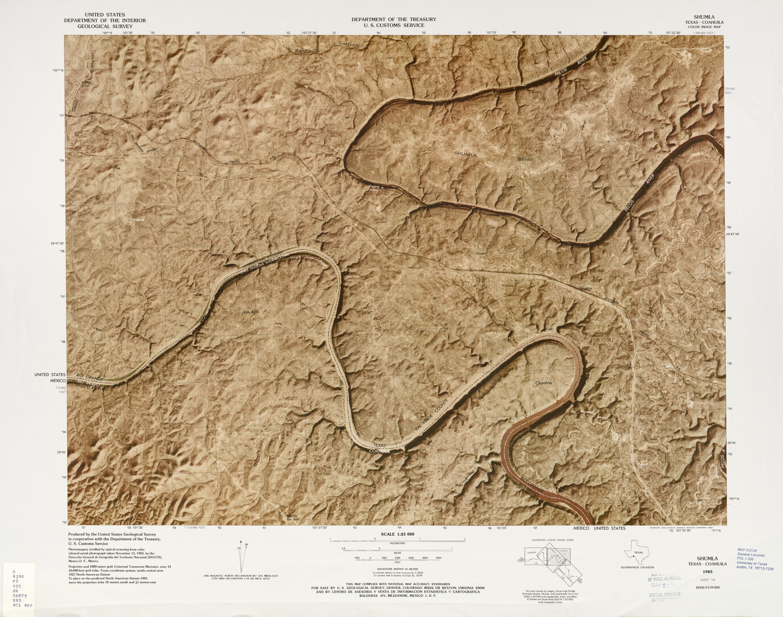 Mapa Fronterizo de México-Estados Unidos, Shumla 1983