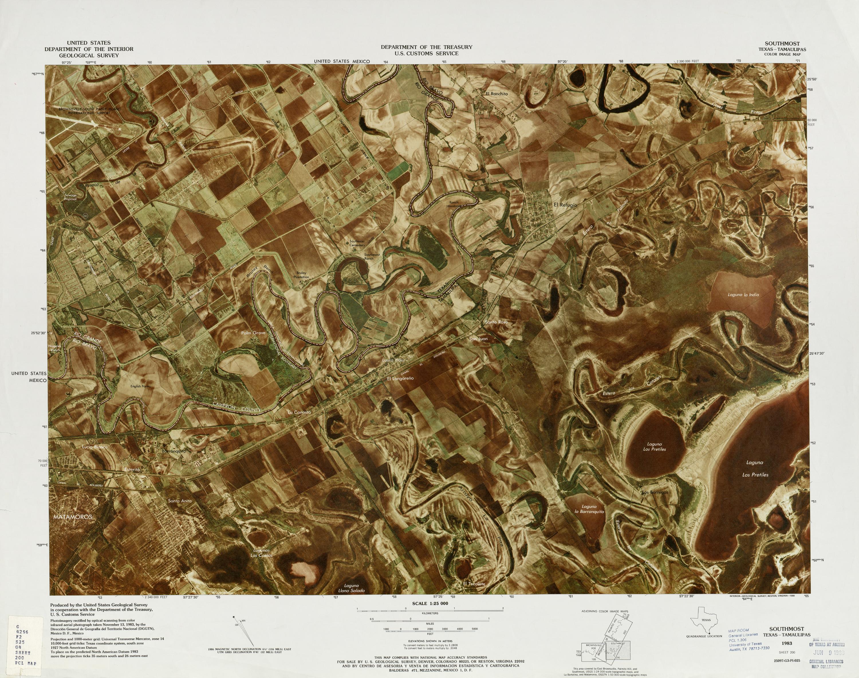 Mapa Fronterizo de México-Estados Unidos, Southmost 1983