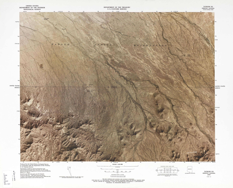 Mapa Fronterizo de México-Estados Unidos, Tatkum Vo 1979