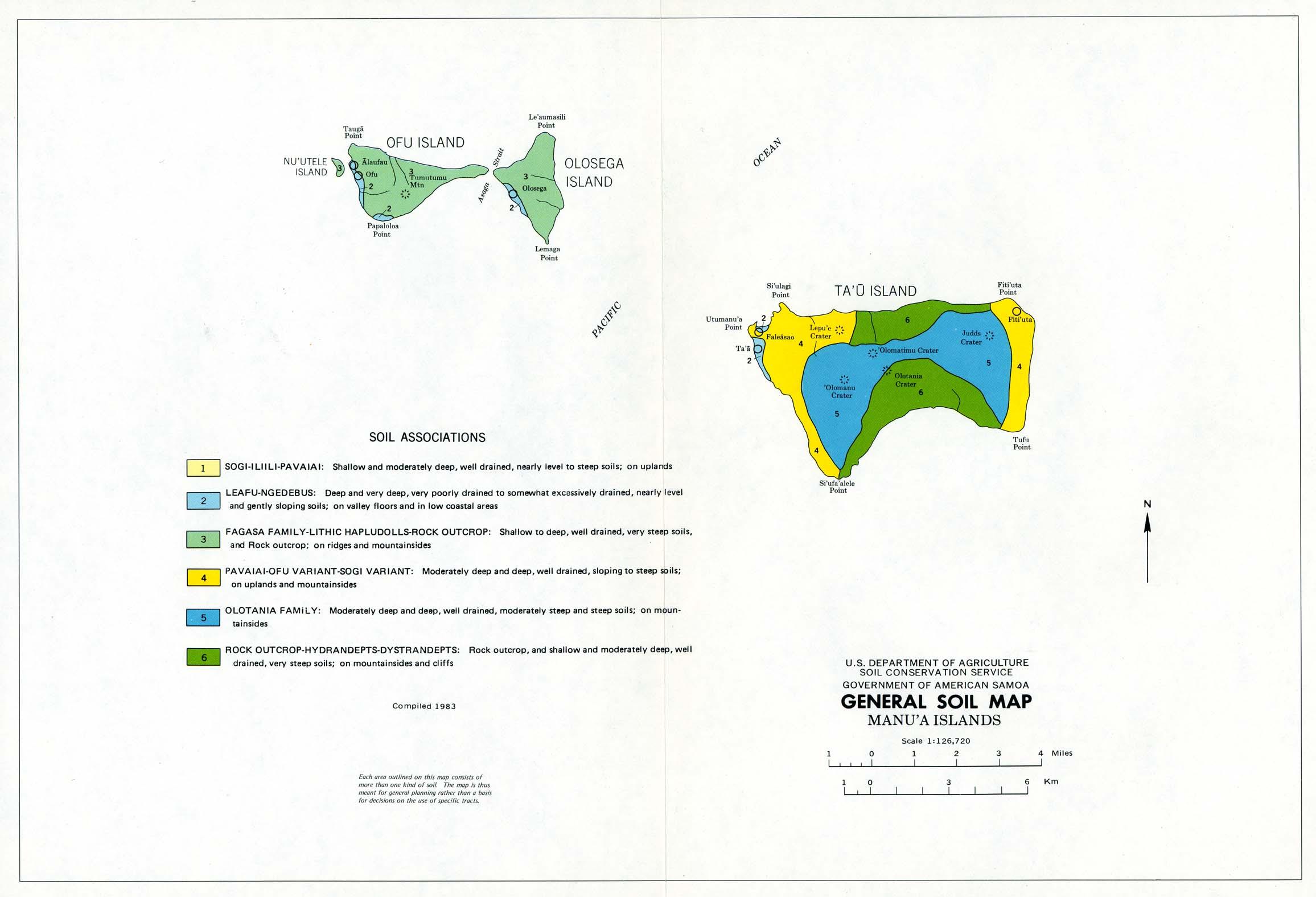Manu'a Islands General Soil Map, American Samoa