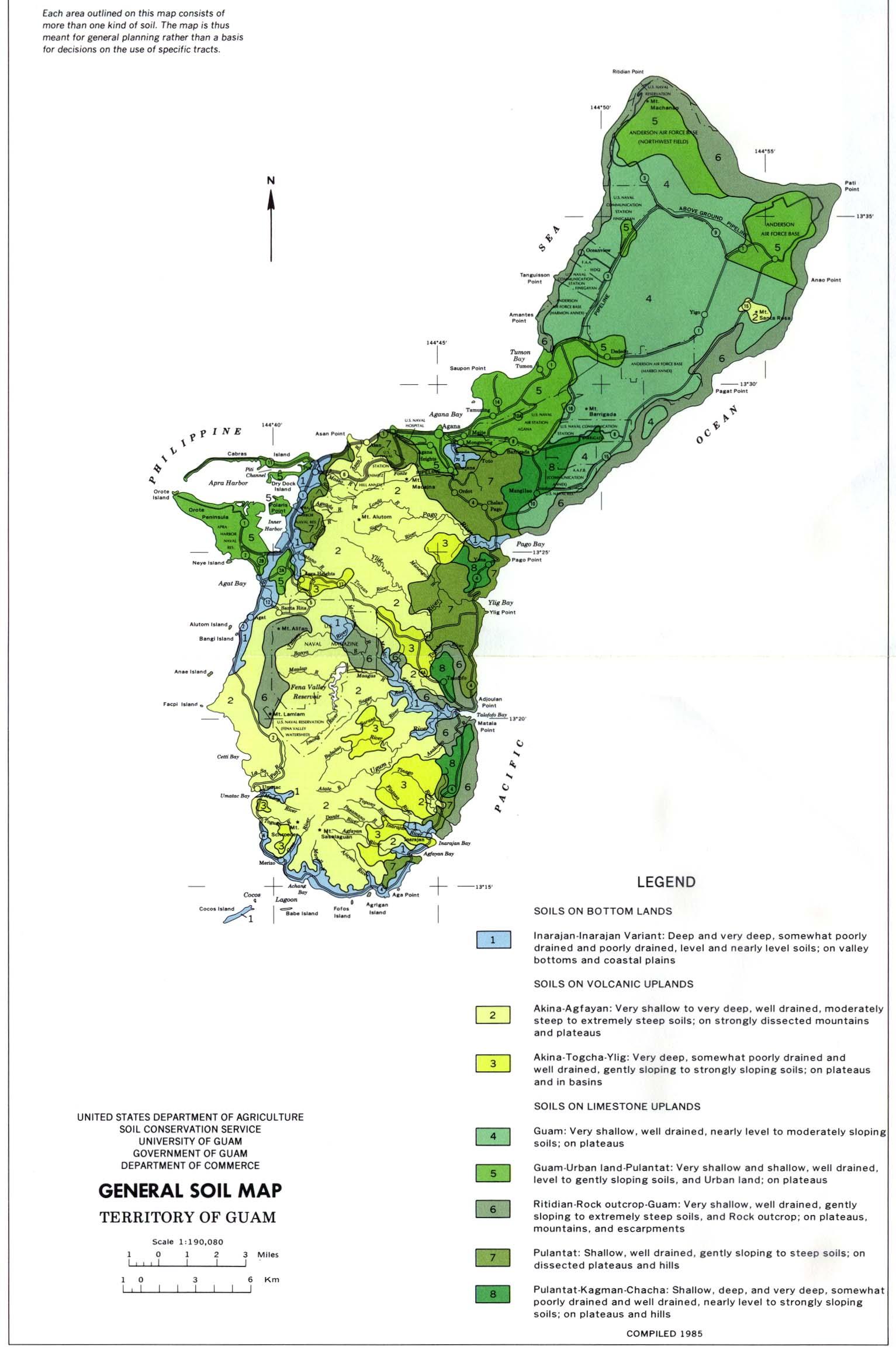 Mapa General de los Suelos Guam