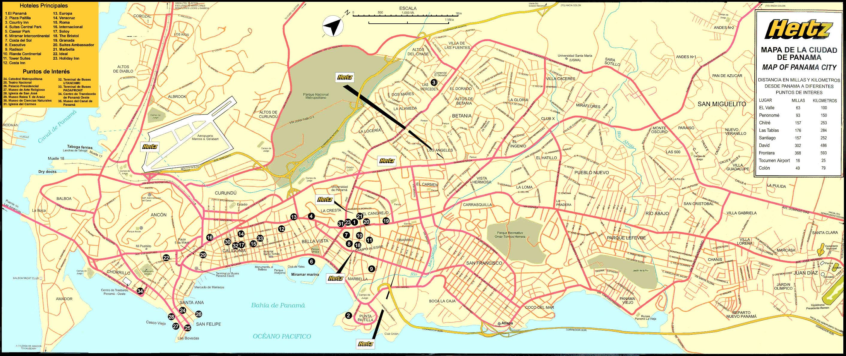 Mapa Interactivo de la Ciudad de Panamá