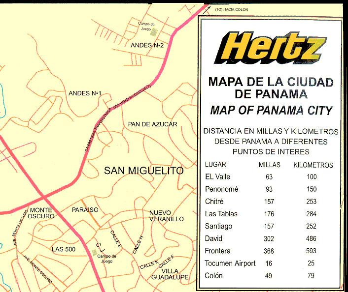 Panama City Map