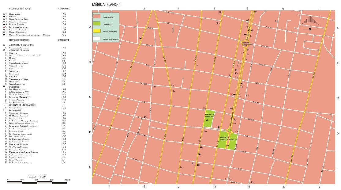 Mapa Mérida (Centro 2), Yucatán, México