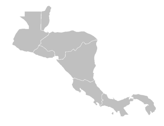 Central America outline map
