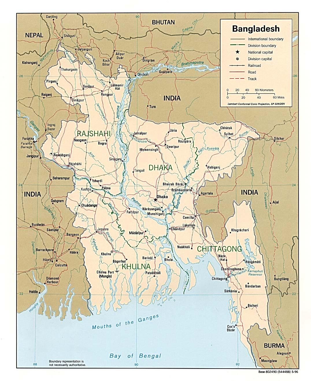Bangladesh Political Map Map