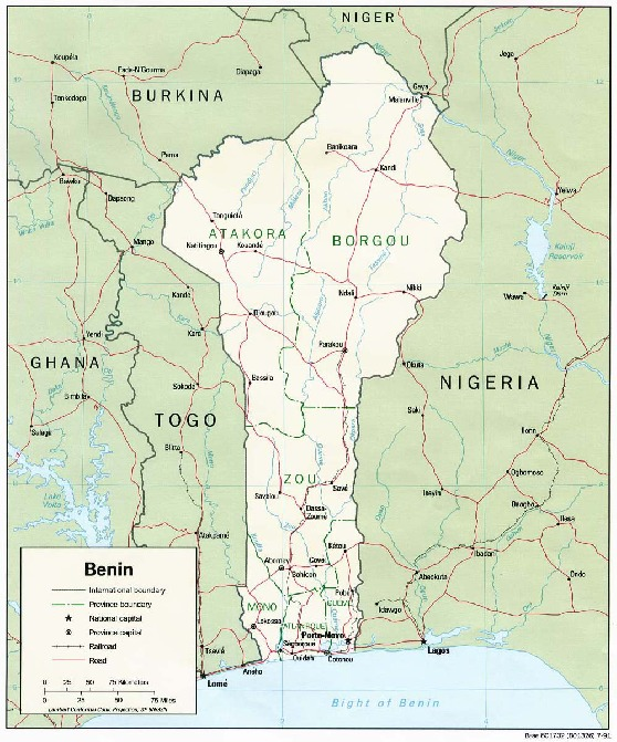 Mapa Politico de Benín