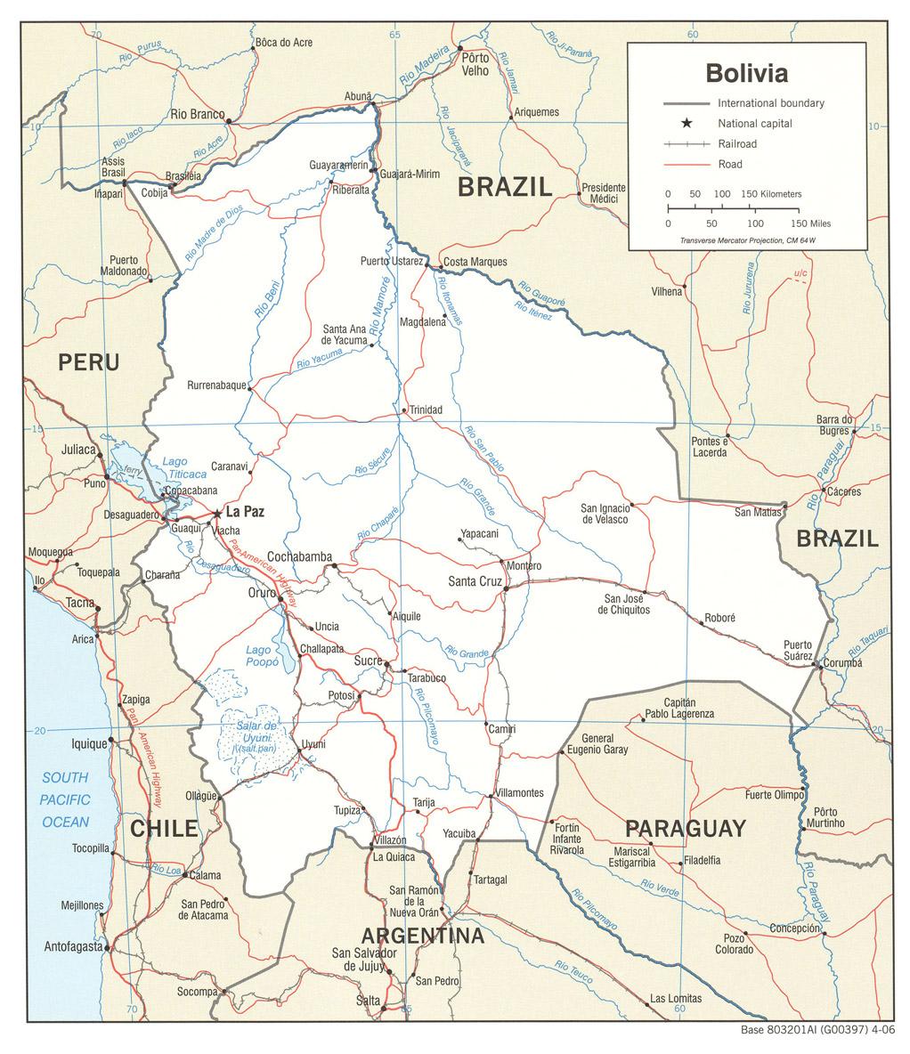Bolivia Political Map