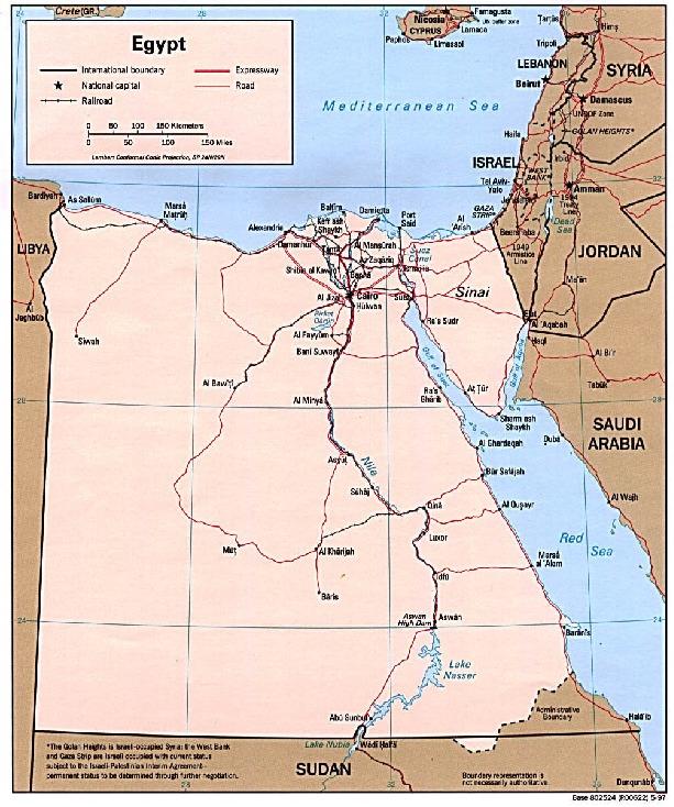 Mapa Politico de Egipto