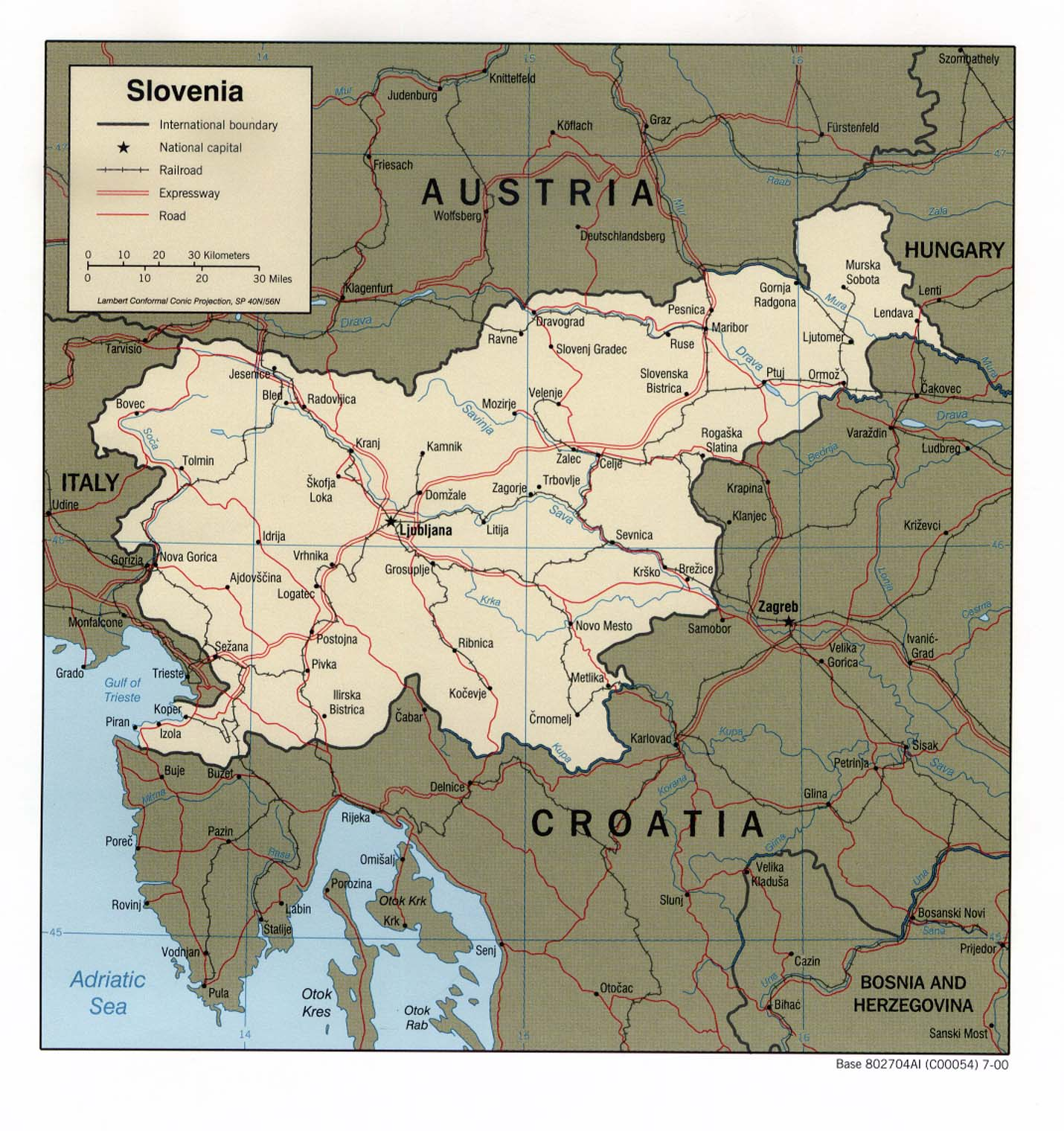 Mapa Politico de Eslovenia