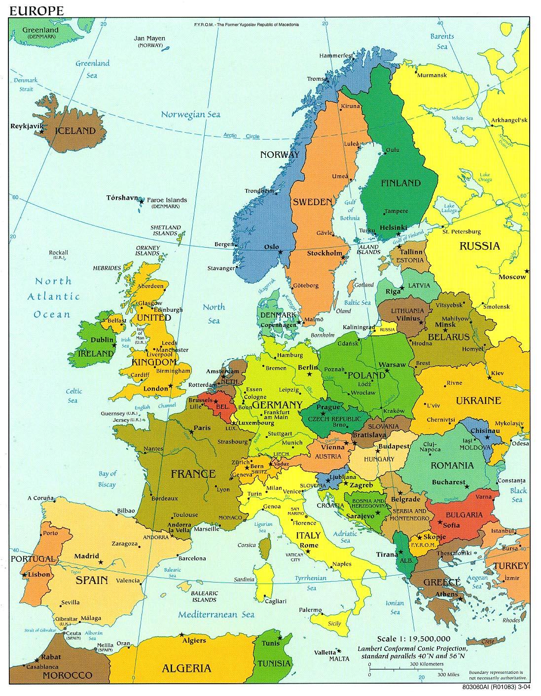 Mapa Politico de Europa 2004