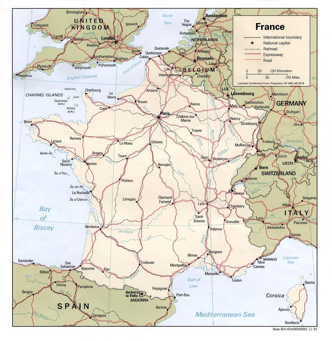 Mapa Politico de Francia