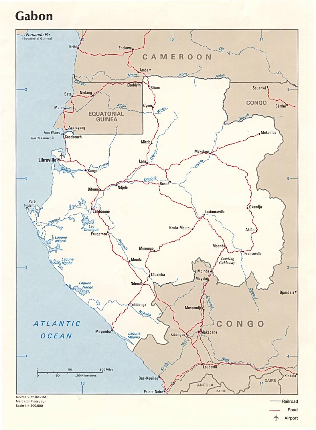 Mapa Politico de Gabón