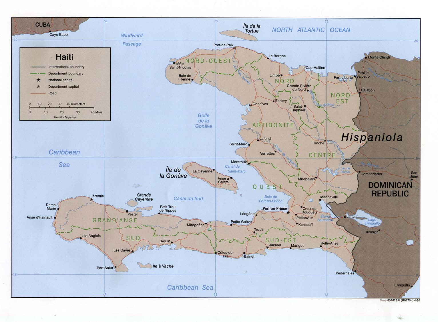Mapa Político de Haití