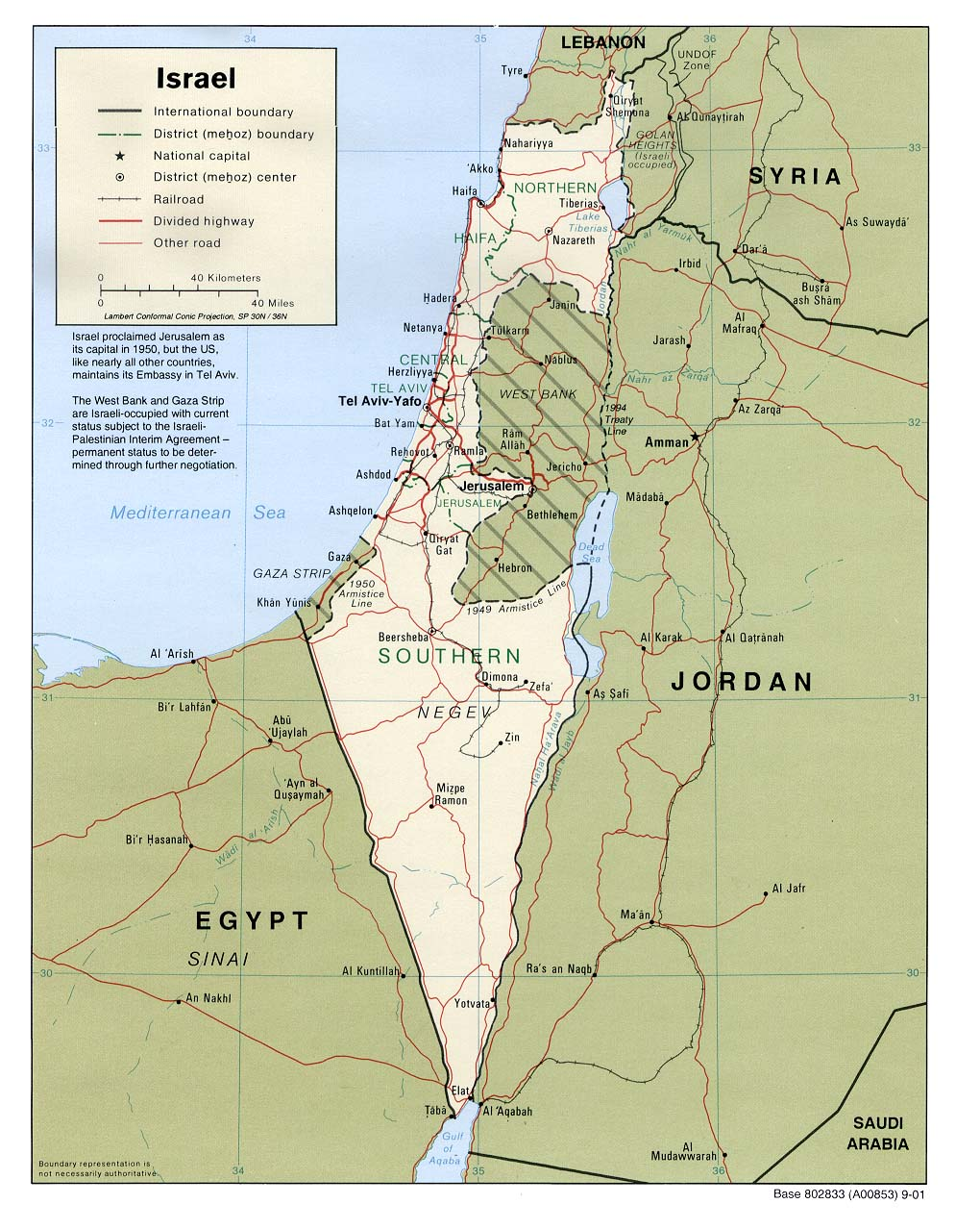 Mapa Politico de Israel