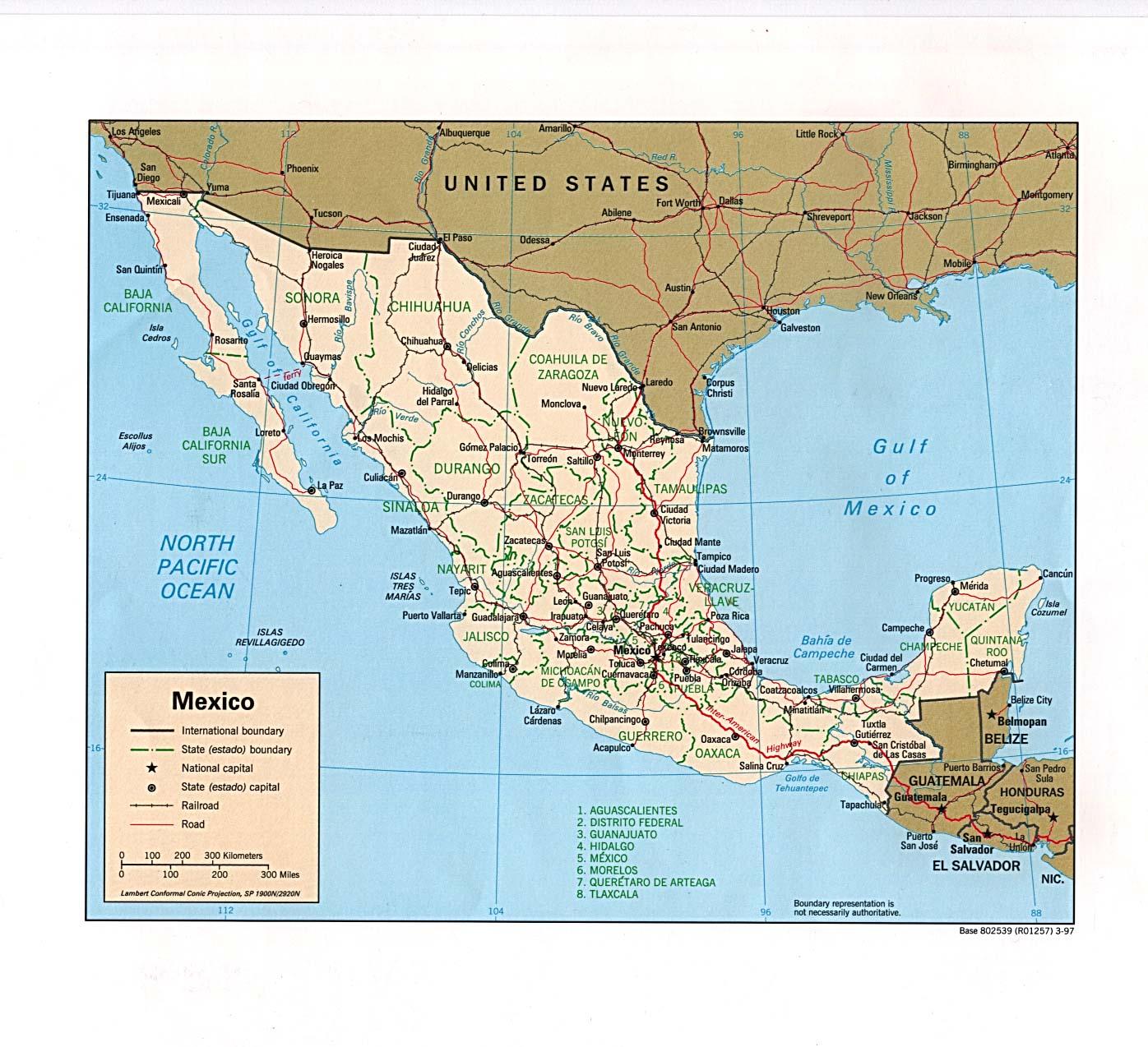 Mapa Político de México