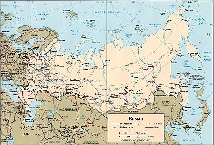 Mapa Politico de Rusia