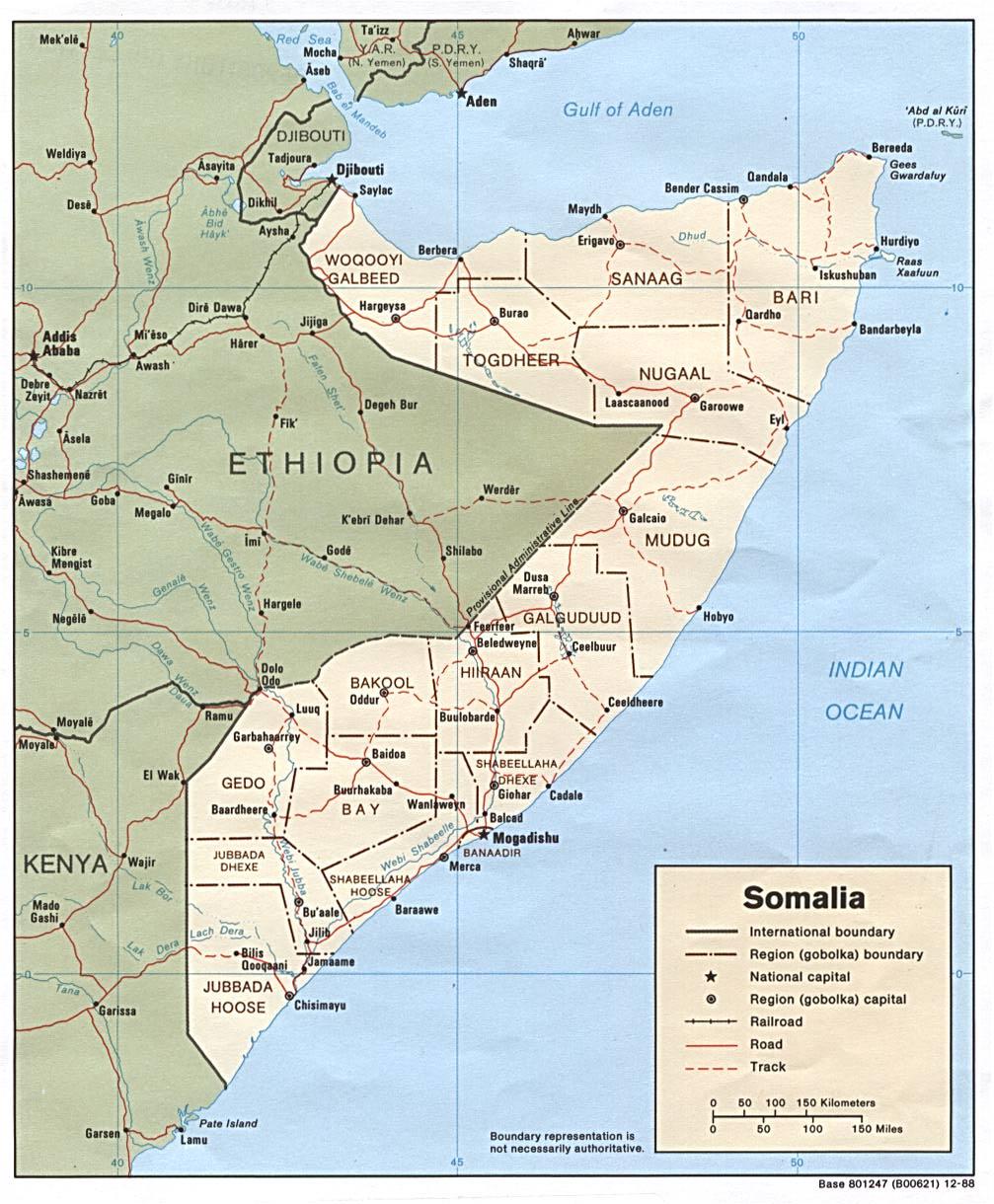 Somalia Political Map