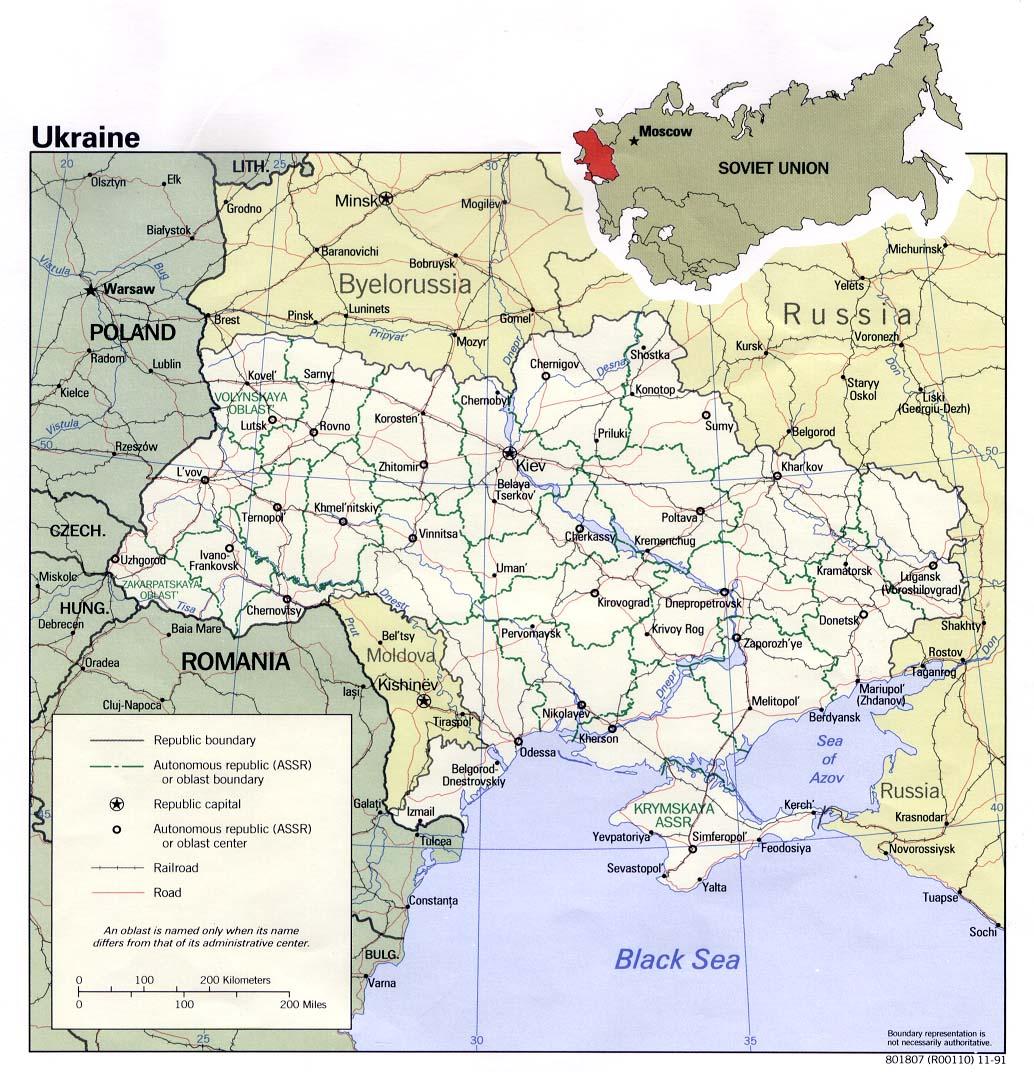 Mapa Politico de Ucrania