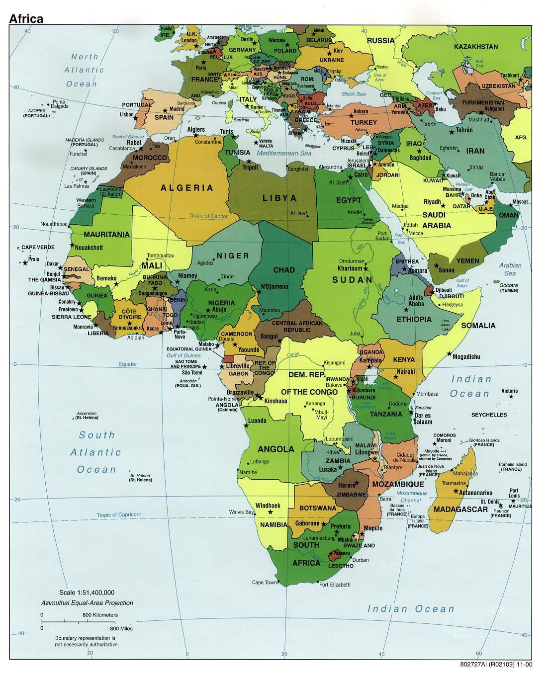 Mapa Politico de África 2000