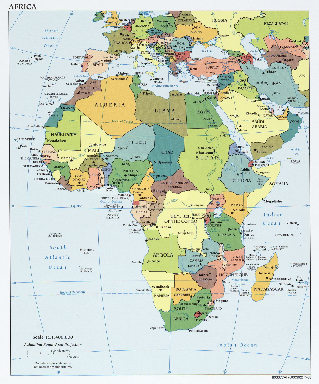 Mapa Politico de África 2008