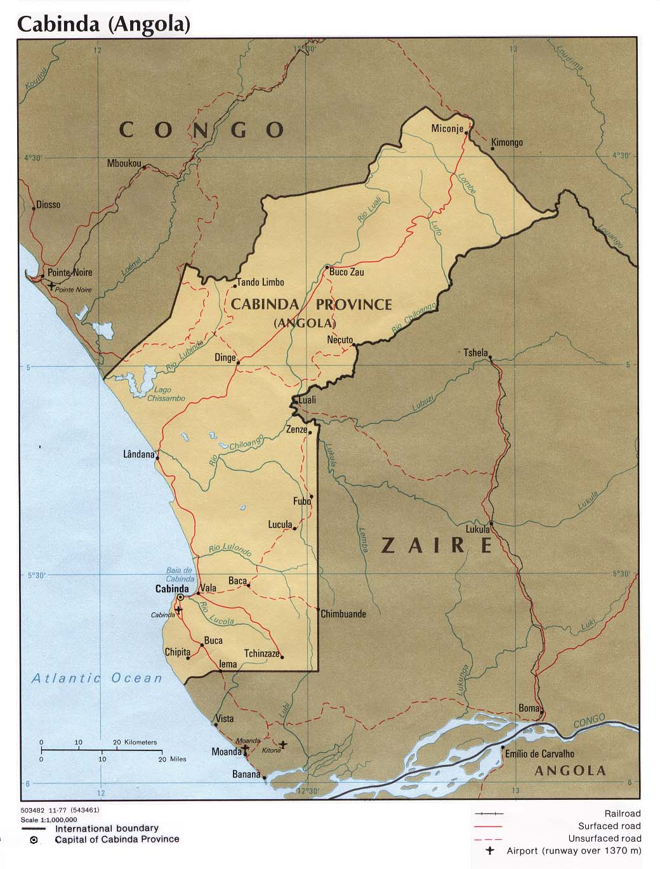 Mapa Politico de la Provincia de Cabinda