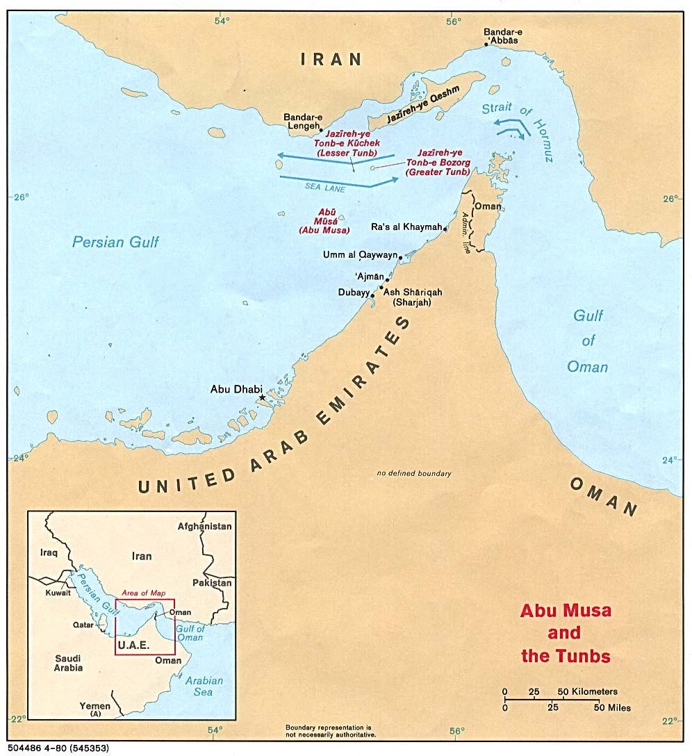 Mapa Politico del Estrecho de Ormuz
