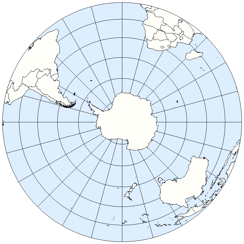 Southern Hemisphere political map 2005