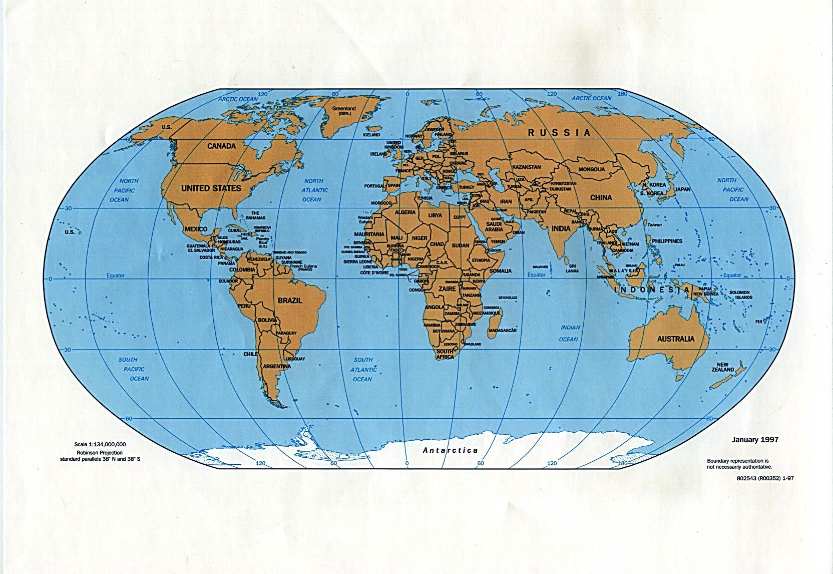 Mapa Politico del Mundo 1997