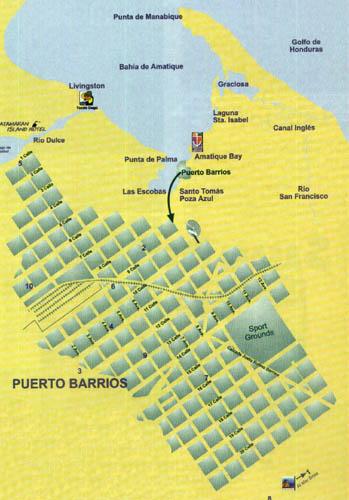 Mapa, Puerto Barrios, Guatemala